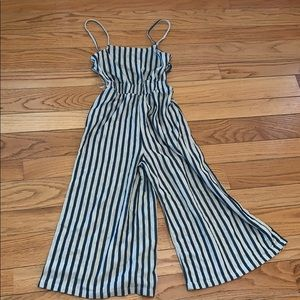 Other - Navy striped jumpsuit